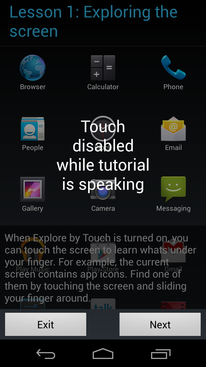 explore by touch tutorial