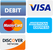 Debit, Visa, MasterCard, American Express, Discover Network