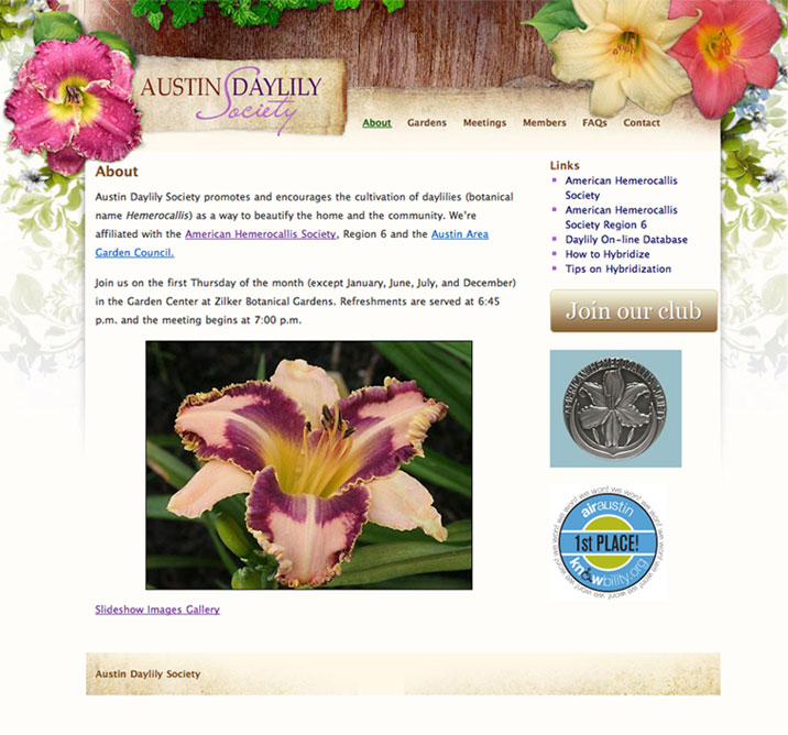 daylily site screenshot