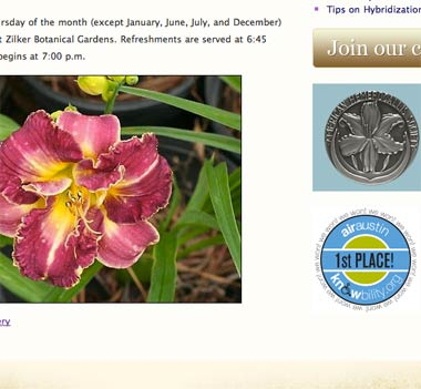 Austin Daylily Society Screenshot